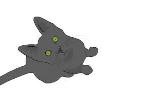 Comic-Katze, vektorisiert